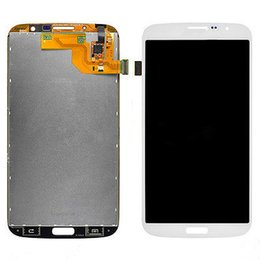 Wholesale Mega Panel - AAA Quality LCD Display Touch Digitizer Screen Replacement Assembly for Samsung Galaxy Mega 6.3 i9200 i9205 white and blue Free Shipping