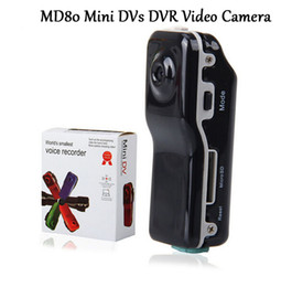 Wholesale Bike Video Recorder - MD80 Mini DV Camcorder DVR Video Camera Webcam Support 16GB HD Cam Sports Helmet Bike Motorbike Camera Video Audio Recorder