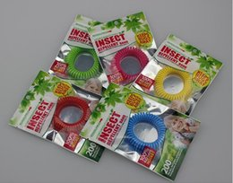 Wholesale Mosquito Repellent Bracelet Wrist - New Mosquito Repellent Bracelet Stretchable Elastic Coil Spiral hand Wrist Band telephone Ring Chain Anti-mosquito bracelet mixed color