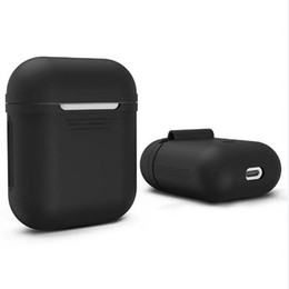 Wholesale Iphone Earphones Cases - Silicone Airpods Strap Bluetooth Wireless Earphone Case ShockProof Protective Cover Waterproof Anti-drop Accessories For iPhone 7 Retailbox