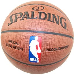 Wholesale Indoor Leather Basketballs - Official Size7 PU Indoor Outdoor Leather Basket Basketball Ball Training Equipment With Pump and Pin Free Shipping