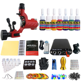Wholesale Tip 31 - Solong Tattoo New Beginner 1 Pro Machine Gun Tattoo Kit Power Supply Needle Grips tip 7 color ink set TK105-31