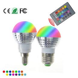 Ampoule LED RGB lampe AC85-265V 3W E27 E14 GU10 RGB LED Spotlight éclairage de Noël magique + télécommande IR 16 couleurs 10pcs ? partir de fabricateur