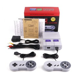 Wholesale Tv Box Dhl - Super Mini Classic SFC TV Handheld Game Console Video For Nes SNES Games with 400 Built-in Games With Engilsh Retail Box DHL