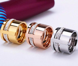 Wholesale Wedding Ring Designs White Gold - jewelry wholesale fashion design personality three layer sticking width hollow 18k rose gold ring