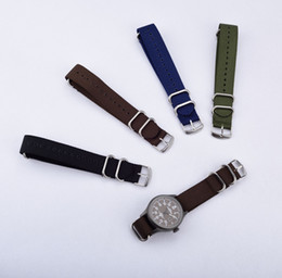 Wholesale Accessories Import - Import Thicken Nylon Waterproof Watch Band 20mm 22mm 24mm in Stock Brown Blue Black Green Watch Strap Canvas Watch Belt Watch Accessories