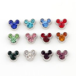 Wholesale Mouse Charms - 20pcs lot Free shipping Mix Minnie Mouse Charms Floating Rhinestone Mickey Charms for Glass Locket DIY Accessories