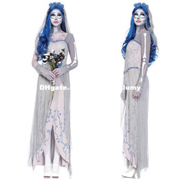 Wholesale Devil Wholesale - DHL free Corpse Bride vampire game uniforms zombia Vampires Devils Angel halloween costumes for women descendants costumes cosplay dresses