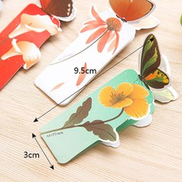 Wholesale Beautiful Books - 50 pcs lot 3D Butterfly Bookmark For Beautiful Birthday Christmas Gift Book Mark Office School Supplies exquisite stationery
