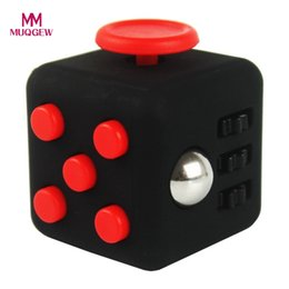 Wholesale Dice Funny - 11Colors Squeeze Fun Fidget Cube Toy Dice Anxiety Attention Anti Stress Puzzle Magic Relief Adults Funny Fidget Toy Dropshipping