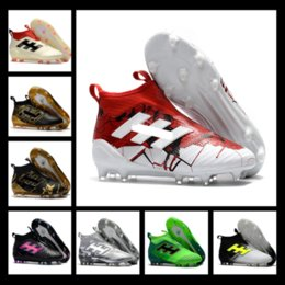 Wholesale Ups Ground - 2017 New Purecontrol Primeknit Soccer Cleats Firm Ground Cleats Trainers NSG FG CG ACE 17 Mens Football Boots Soccer Shoes size 39-45