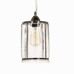 Canada Lampe à suspension en verre antique clair pour cuisine Lights Cabinet Salle à manger salon Edison Simple Glass Luminaire suspendu Offre