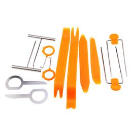 Wholesale Audio Settings - Auto Picks 12 Pcs SET Plastic Car Radio Door Clip Panel Trim Dash Audio Removal Pry Tool Repairing Locksmith Tools