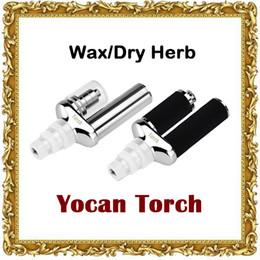 Wholesale Torch Pens - Original Yocan Torch Vaporizer Kit Wax Pen With Quartz Dual Coil Portable Wax Vaporizer Pen and Dry Herb Vaporizer vs Yocan Plus kit