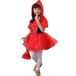 cosplay kostüme rote reithaube Rabatt kleines Rotkäppchen scherzt Prinzessinkleid scherzt Halloween-Abendkleidkostüm cosplay Kostümkind freies Verschiffen auf Lager
