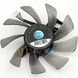 Wholesale Graphics Card Free - Free shipping GALAXY GTX560SE GTX650Ti 660 GTX560TI Display cooling fan 85mm APISTEK GA92O2U DC12V 0.46A graphics card fan