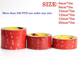Wholesale Double Sided Glue - 20pcs lot 3M Double-sided glue car sticker Vehicle 6 8 10 12 15 20mm Chose Long 3 Meter good quality stickiness car decals accessories