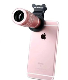 Wholesale Digital Cameras 12x Zoom - NEW universal Clip on 12X Optical Zoom wide angle 70 degree phone Lens telescope Digital Camera mobil phones iphone6 samsung 6s DHL
