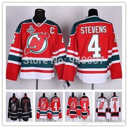 Wholesale Discounted Hockey Jerseys - Free Shipping Discount Authentic New Jersey Devils Ice Hockey Jerseys #4 Scott Stevens Jersey Cheap Wholesale Mixed Order