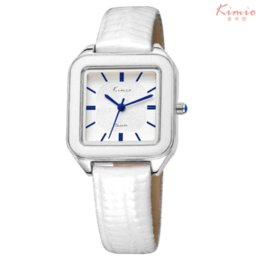 Wholesale Kimio Brand For Watch - KIMIO Luxury Brand Summer Fashion Bright Color Square Dial Women's Watches Genuine Leather Watches Women Wrist Watch For Women