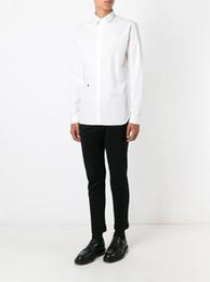 Canada Chemise à manches longues à manches courtes pour hommes de marque Famous Brand France cheap embroidered long sleeve shirts Offre