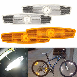 Wholesale Wheel Reflector - 1pair Bicycle Bike Wheel Safety Spoke Reflector Reflective Mount Clip Warning
