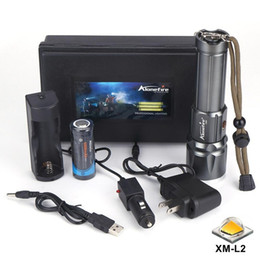 Wholesale High Power Led Torches - AloneFire X900 High power CREE XM-L2 LED Zoomable LED Flashlight Torch With 26650 Battery USB charge