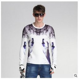Wholesale Cardigans For Men Sale - 10 Styles 2016 Fall Hot Sale European Men Sweaters Wholesale Sweater For Men Slim Long Sleeve Printing Round Neck Sweater Free Shipping