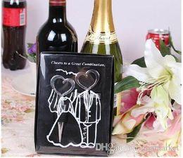 Wholesale Wedding Wine Stopper Bottle Opener - Wine Bottle opener Heart Shaped Great Combination Corkscrew and Stopper Heart-Shaped Sets Wedding Favors Gift 50sets=100pcs DHL FEDEX FREE
