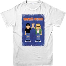 Wholesale Posters Hip Hop - Fashion New Top Tees Tshirts Waynes World T-Shirt,Waynes World Pixel Poster Spoof T-Shirt , Inspired Top Hip Hop Novelty