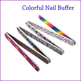 Wholesale Wholesale Christmas Nail Files - Wholesale- 2017 Colorful 5pcs New 2-Side Nail Art Acrylic Polish Grind Sand File Block Buffer Manicure Tool Nails Beauty for Christmas Sale
