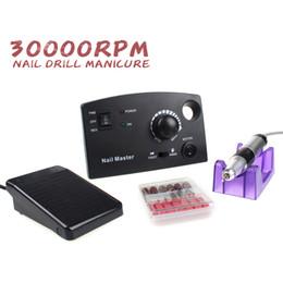 Wholesale-30000 RPM Elektrisches Nagelbohrgerät Pro White Black Diamond Nagelbohrgerät Datei Maniure und Pediküre Bohrer Poliermittel für Gelpoliermittel von Fabrikanten