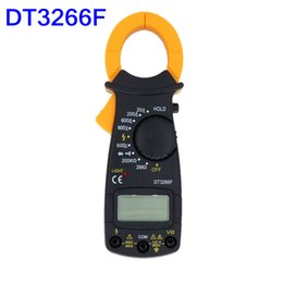 Wholesale Digital Auto Meters - Industrial Measurement Instrument Clamp Meter Multimeter Amperemeter DT3266F Digital Clamp Meter Buzzer 1999 Auto Polarity Display lINS_50W