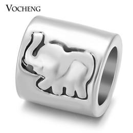 Wholesale Elephants Charms - VOCHENG Endless Charms Elephant Gold Platinum Plated Brass Material Interchangeable Sheepskin Bracelet Accessory VC-221