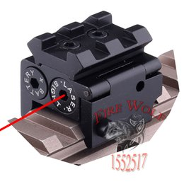 Wholesale Sighting Scope - 650nm 300m Mini High quality Tactical Red Dot Laser sight Scope 28x26mm DC 4.5V Dual Weaver Rail Mount Compact