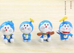 Wholesale Doraemon Cloth - Doraemon jingle cats time paragraph cloth furnishing articles Japanese creative zakka grocery blue fat cartoon peripheral products