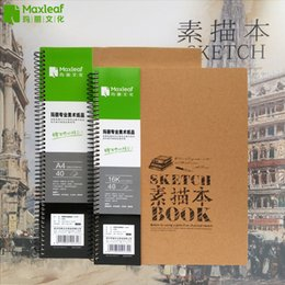 Wholesale Illustration Notepad - Wholesale- Vintage Sketchbooks A4 16K Drawing Book Illustration Sketching For Paiting Drawing Diary Journal Creative Notebook Art Supplies