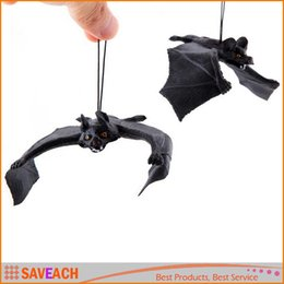 Wholesale Horror Haunted House - (2 Size) Halloween Haunted House Bar Decoration Simulation Terrorist Bats, Fool's day Realistic Animal Horror Spoof Soft Rubber Bats