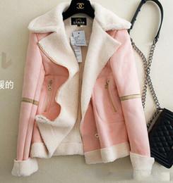 Wholesale Sheepskin Winter Coats For Women - Winter Warm Short Sheepskin Natural Lamb Fur Coat Fur Jacket For Women With Pocket Plus
