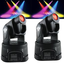 Wholesale Led Disco Spot - 2pcs 15W Mini LED Moving Head Spot RGB DJ Disco Stage Party Effect Lighting for Ktv Home Party Disco