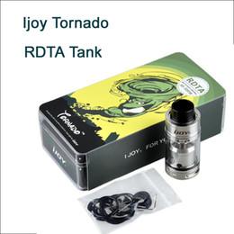 tanque de tornado Rebajas Clon Ijoy Tornado RDTA tanque negro SS Top Relleno 5ml 24mm diámetro Tornado atomizador Peek aislador con escritorio T4 DHL libre ATB518