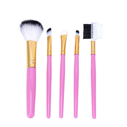 Wholesale Wholesale Pvc Free Makeup Bags - New Hot Selling Branded 5 pieces blush Eyeshadow brushes set eyebrow makeup brushes PVC bag packing cosmetic brushes kits free shipping