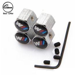 Wholesale Bmw Car Badges - Lockable Anti-Theft Dust Cap Tire valve caps With Car Logo Badges Emblems for BMW BLACK
