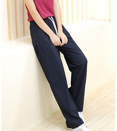 Wholesale Cheap Trousers For Women - Wholesale-FREE GIFT High Quality cheap dance pants loose Sport pants for women sport long trousers NEW pants capris