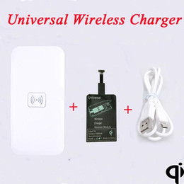 Wholesale Wireless Vibe - Qi Wireless Charging Pad+ Universal Wireless Charger receiver for Samsung Huawei P6 7 Umi Zero Oppo Find 7 ZTE Lenovo p70 vibe 2