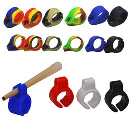 Wholesale 8mm Silicone - New Cigarette Rings Silicone Smoking Cigarette Smoke Ring Stent Tobacco Joint Holder Rings For Regular Size (7-8mm) Cigarette Smoking Ring