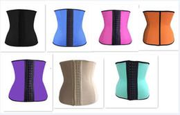 corsé para el entrenamiento de la cintura xl Rebajas 25 unids 7 colores de Látex de Hueso de Acero Óptico Body Shapers Entrenador de Cintura Corsé de Entrenamiento Latex Corset Sexy Cincher Slim Ladies Shapers D623