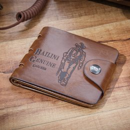 Wholesale Leather Cowboy Bags - 2015 Hot Cowboy Mens 2 Style Card Case wallet Bag Purse Center Flip Bifold Leather Wallets Free shipping