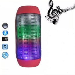 Wholesale Led Lighting For Outdoors - Portable Wireless Bluetooth Speaker 360 LED Lights Speakers Support U-disk TF card Boombox Speaker Outdoor Amplifier For Androide Phone