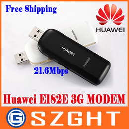 Wholesale Huawei Wireless Usb Modem - Wholesale- HUAWEI E182E WCDMA 3G Modem USB Modem HSPA+ High Speed 21.6Mbps PKE1820 E367